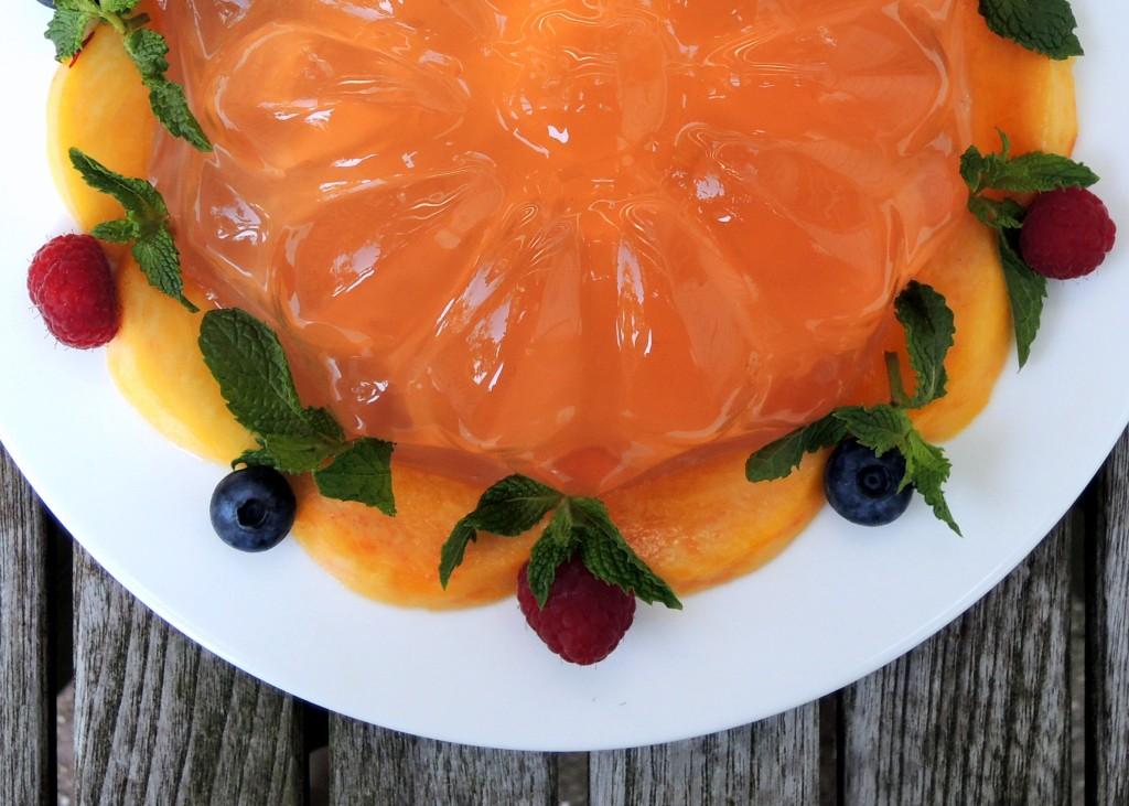 Desserts, gelatins, rose gelee 2