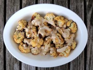 Vegetables, cauliflower, roasted cauliflower with tahini sauce 1