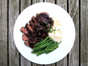 Beef, pan-seared filets mignon with mushroom sauce 1