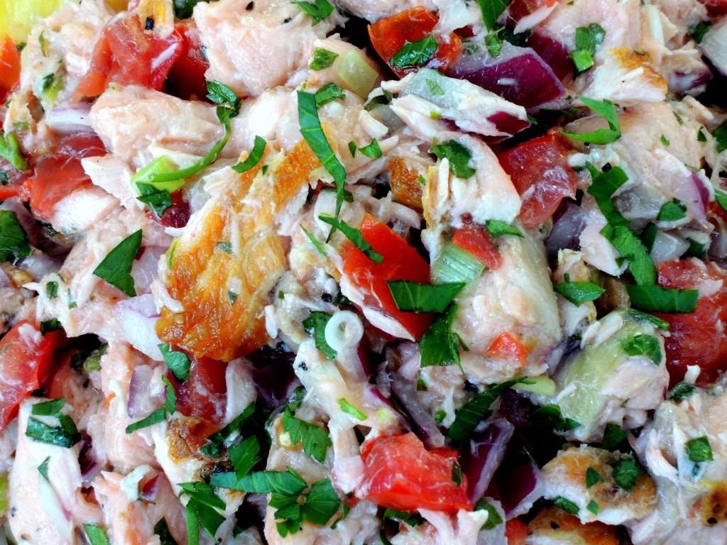Appetizers, ceviche, lomi-lomi style salmon 3