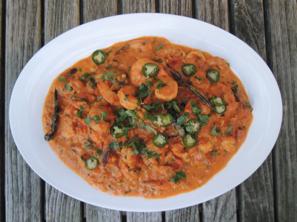 Shrimp, braised, Goan-style shrimp curry 1