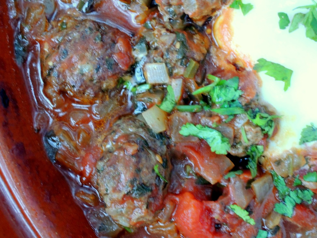 Meatballs, tagine kefrta mkawra (Moroccan meatball tagine with eggs) 2