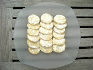 Desserts, cookies, kourambiedes (Greek shortbread cookies) 1