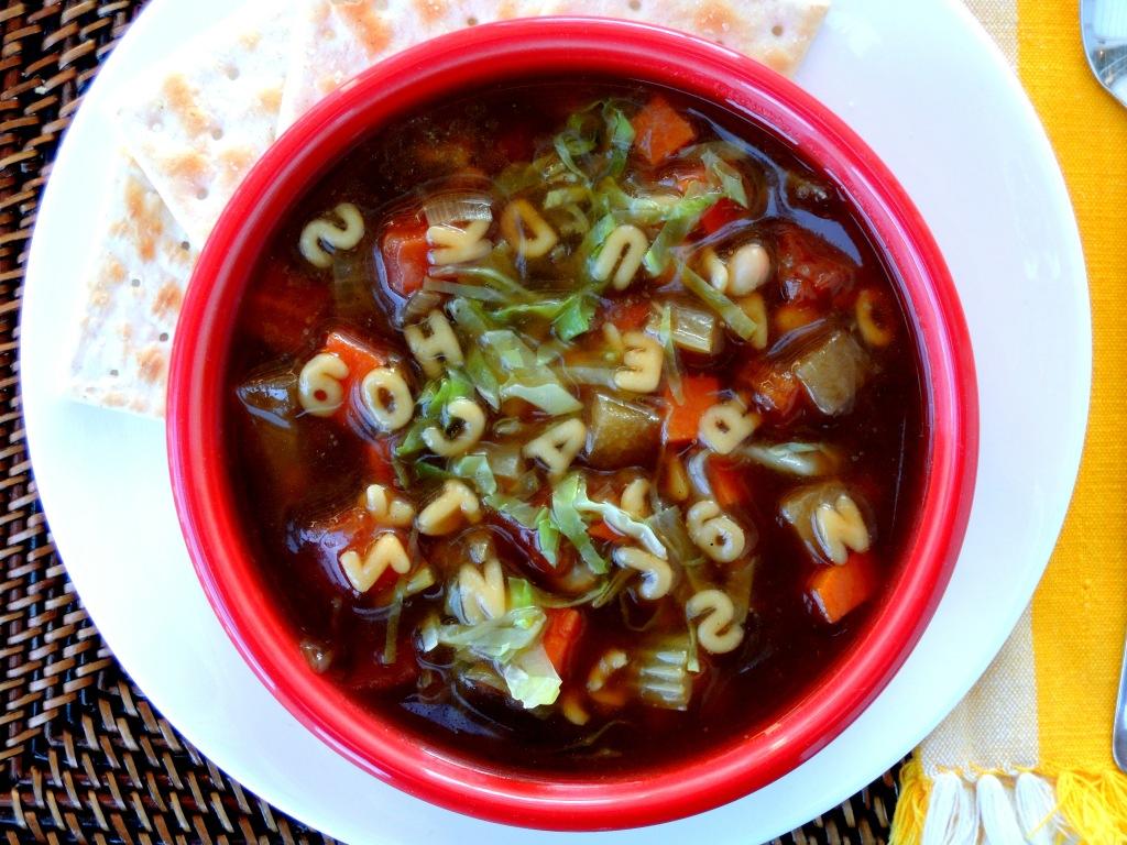 Soups, beef, vegetable beef soup 1