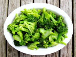 Vegetables, broccoli, steamed broccoli with butter 1
