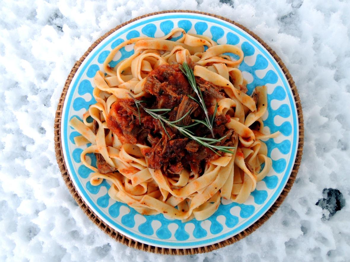 Pasta, tagliatelle al ragu d'anatra (duck from Venice) 1