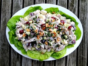 Salads, chicken, Waldorf chicken salad 1