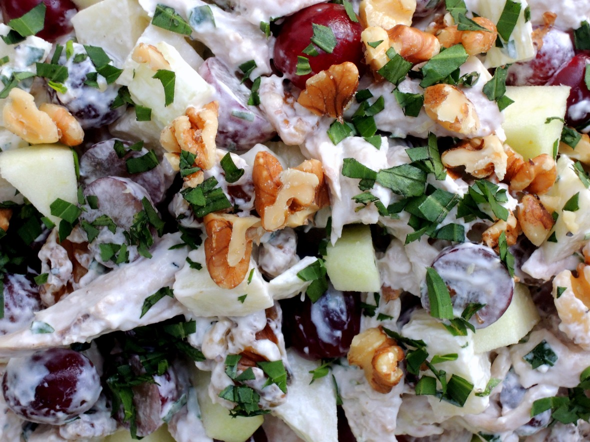 Salads, chicken, Waldorf chicken salad 2