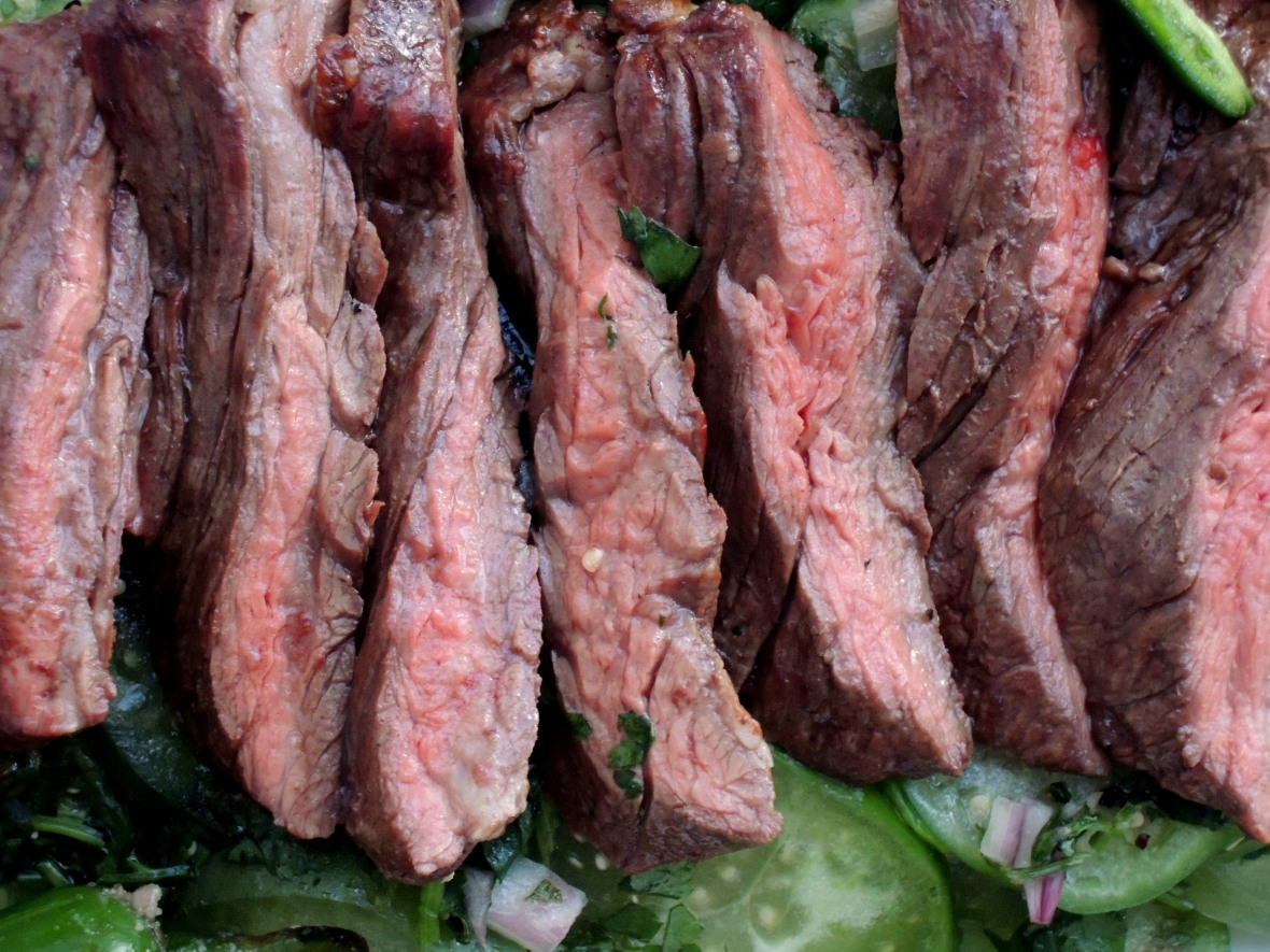 Beef, grilled steak, arrachera con ajo y limon a la parilla (Mexican grilled skirt steaks with garlic and lime) 3