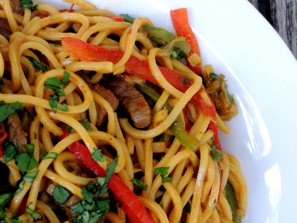 Pasta, lo mian, Singapore-style lo mian with curried lamb 2