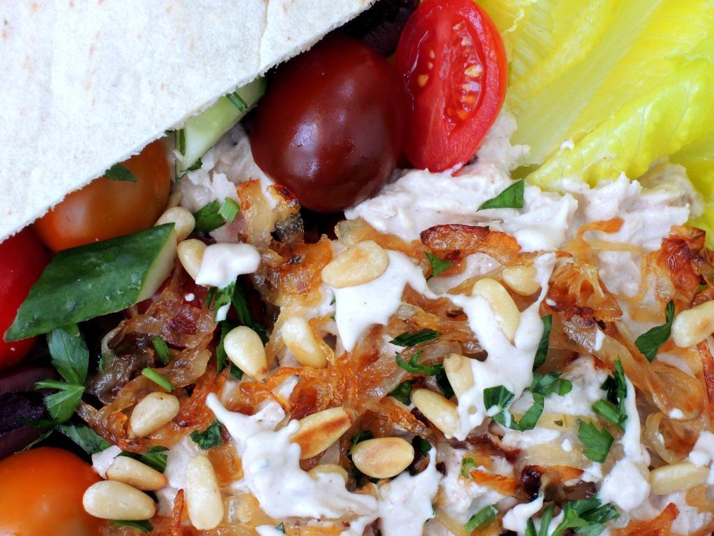Salads, tuna, Lebanese-style tuna salad with tahini sauce 2