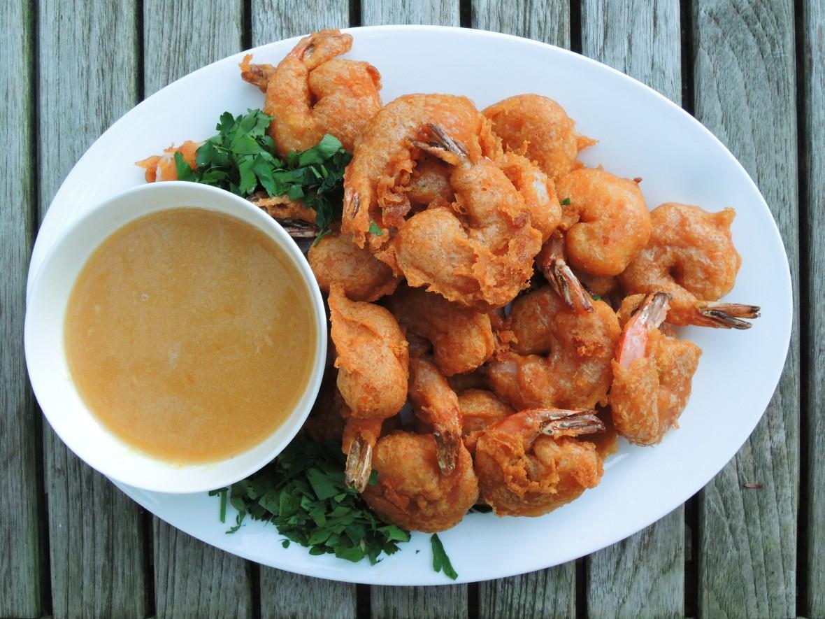 Shrimp, fried, beer battered shrimp 1
