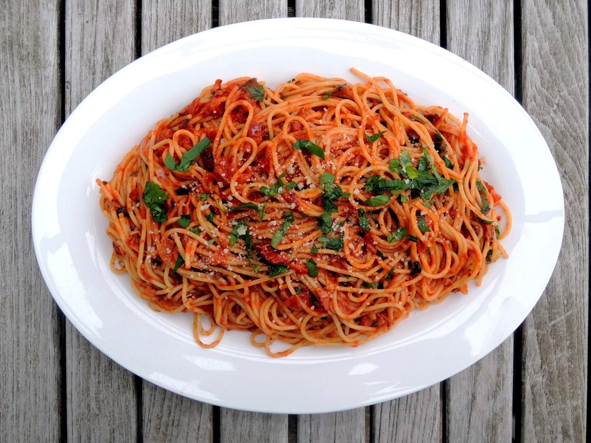 Pasta, spaghetti all'Amatriciana 1