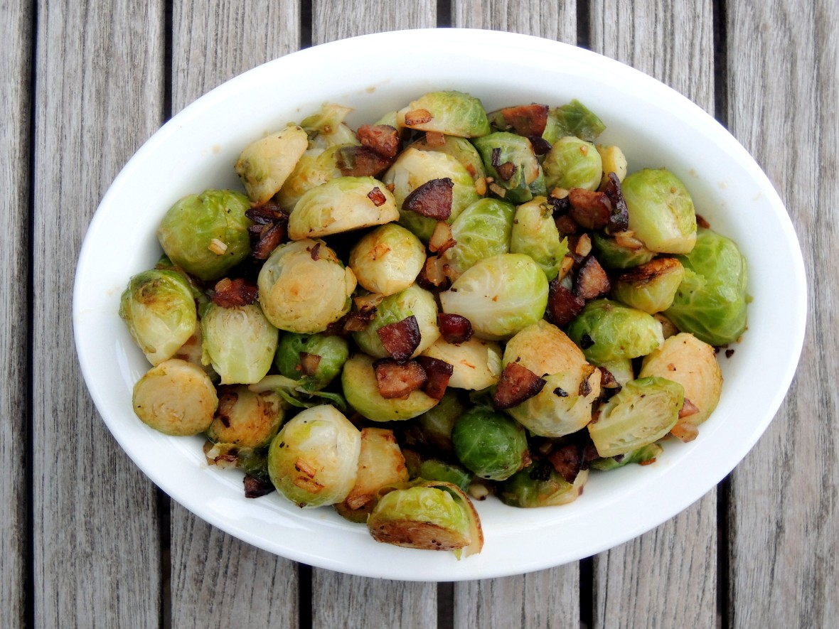 Vegetables, Brussels sprouts with chorizo 1