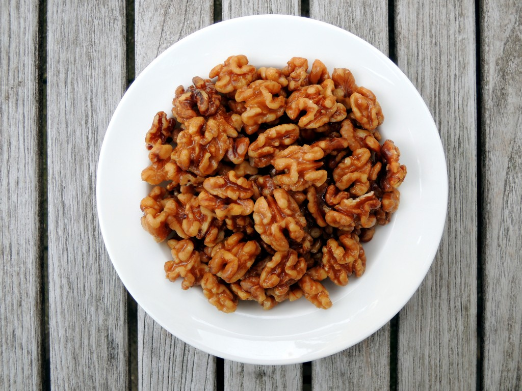 Appetizers, nuts and seeds, maple glazed walnuts 1