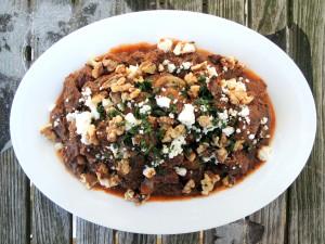 Beef, stews, Greek beef stew with feta and walnuts 1