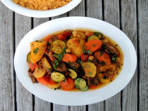 Beef, stews, Moroccan beef and vegetable stew with couscous 1