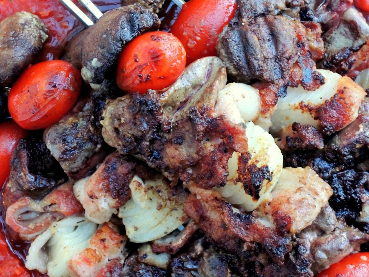 Kebabs, chicken livers en brochette 3