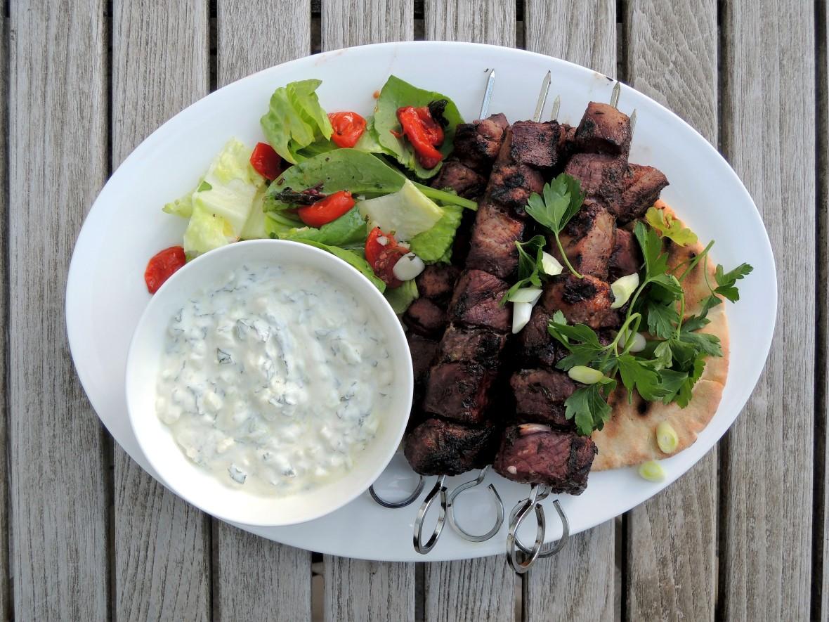 Kebabs, souvlakia hirina 1