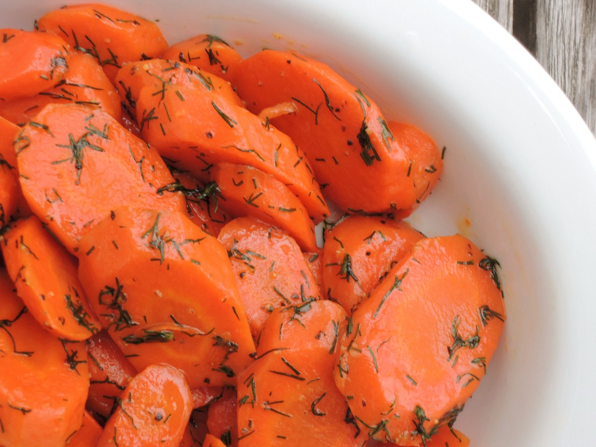 Vegetables, carrots, braised carrots with dill 2