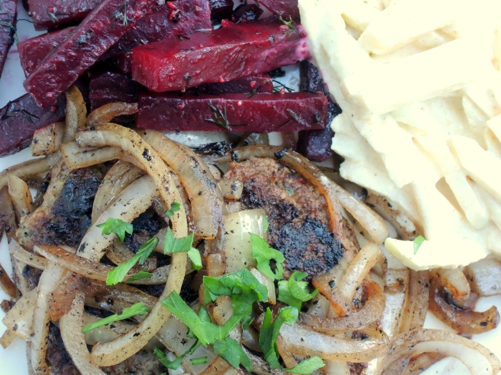 Burgers, beef, Deutsches beefsteak 3