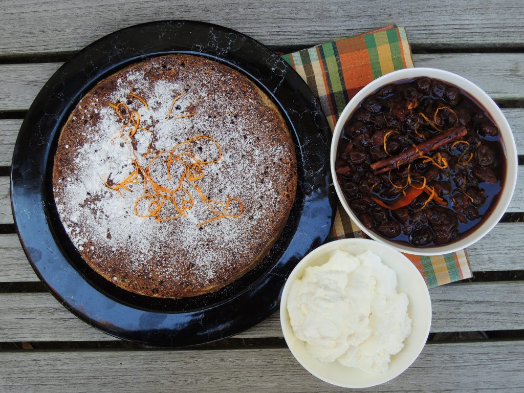 Desserts, cakes, tortes, almond and chocolate torte (Black Forest torte) 1
