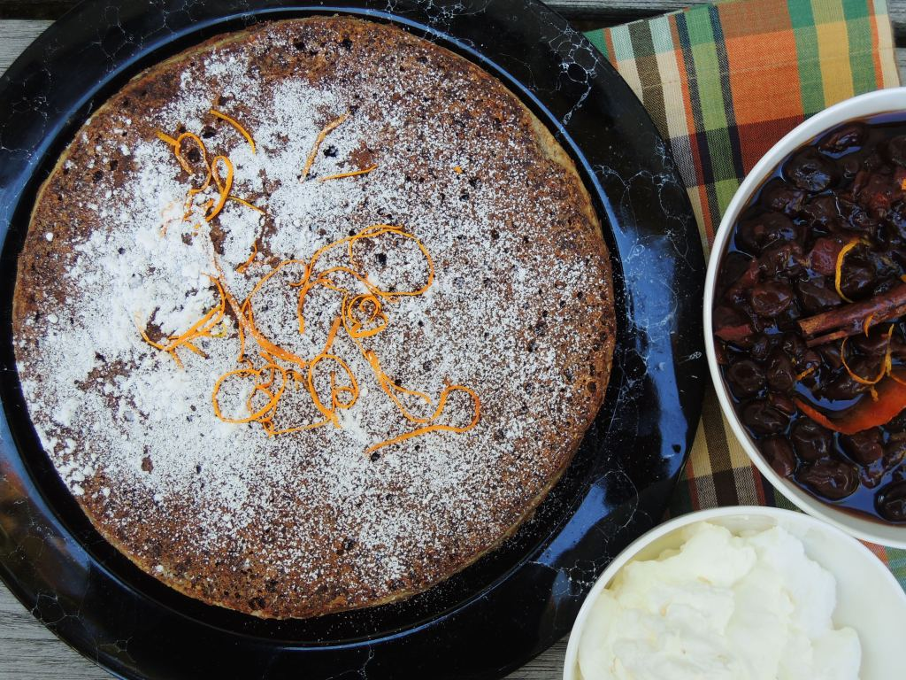 Desserts, cakes, tortes, almond and chocolate torte (Black Forest torte) 2