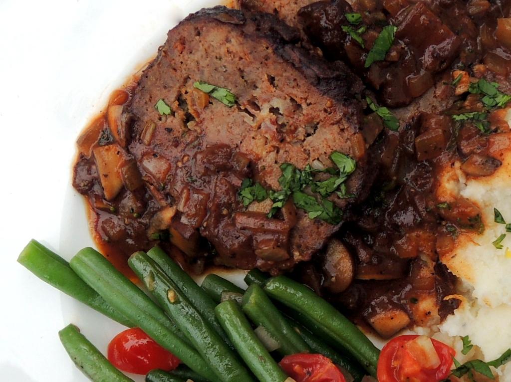Meatloaf, Marcella's Tuscan meatloaf with mushrooms 3