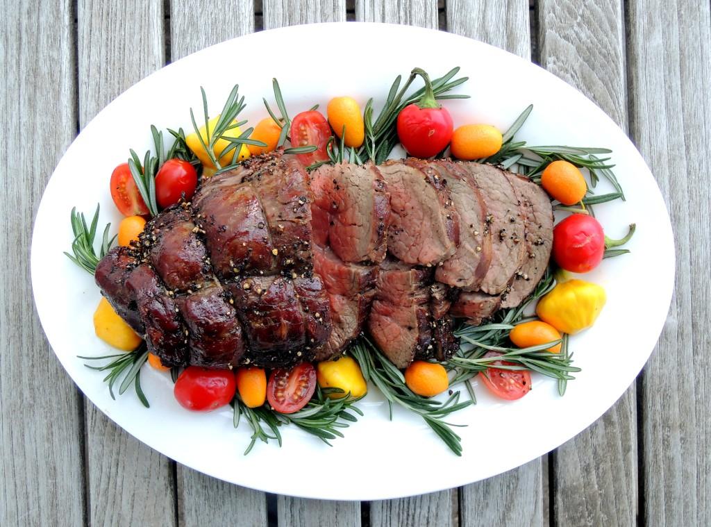 Beef, tenderloin, peppered beef tenderloin with port sauce 1