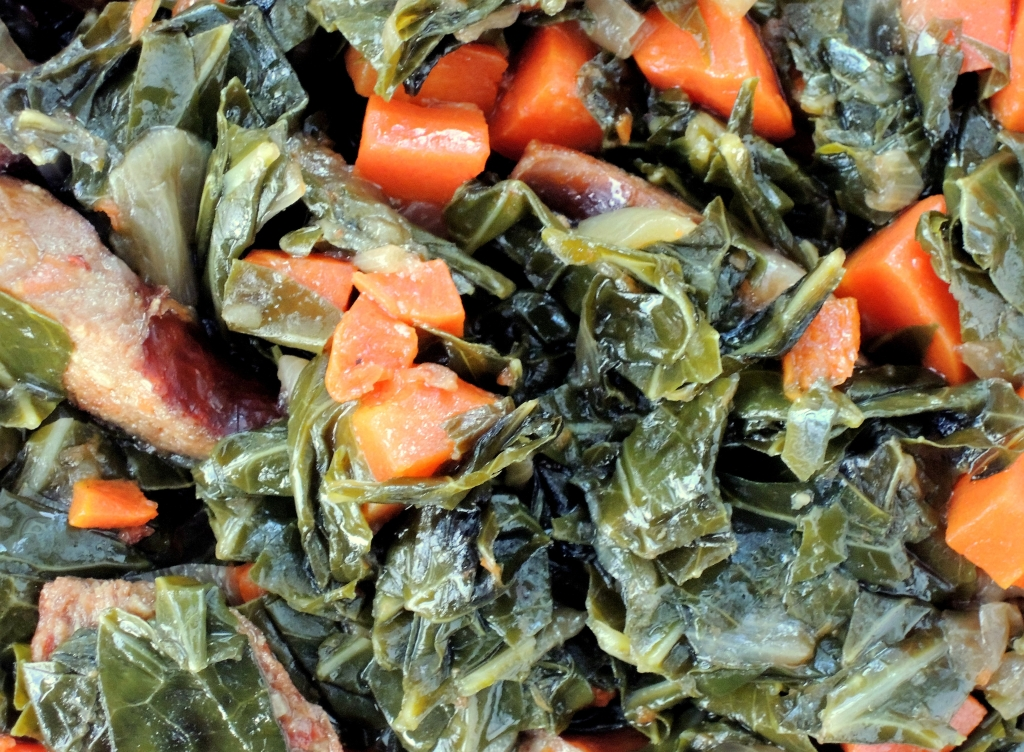 Vegetables, collard greens, braised collard greens with chorizo 3