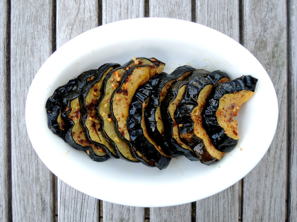 Vegetables, squash, roasted acorn squash with Chinese five spice powder and ginger 1