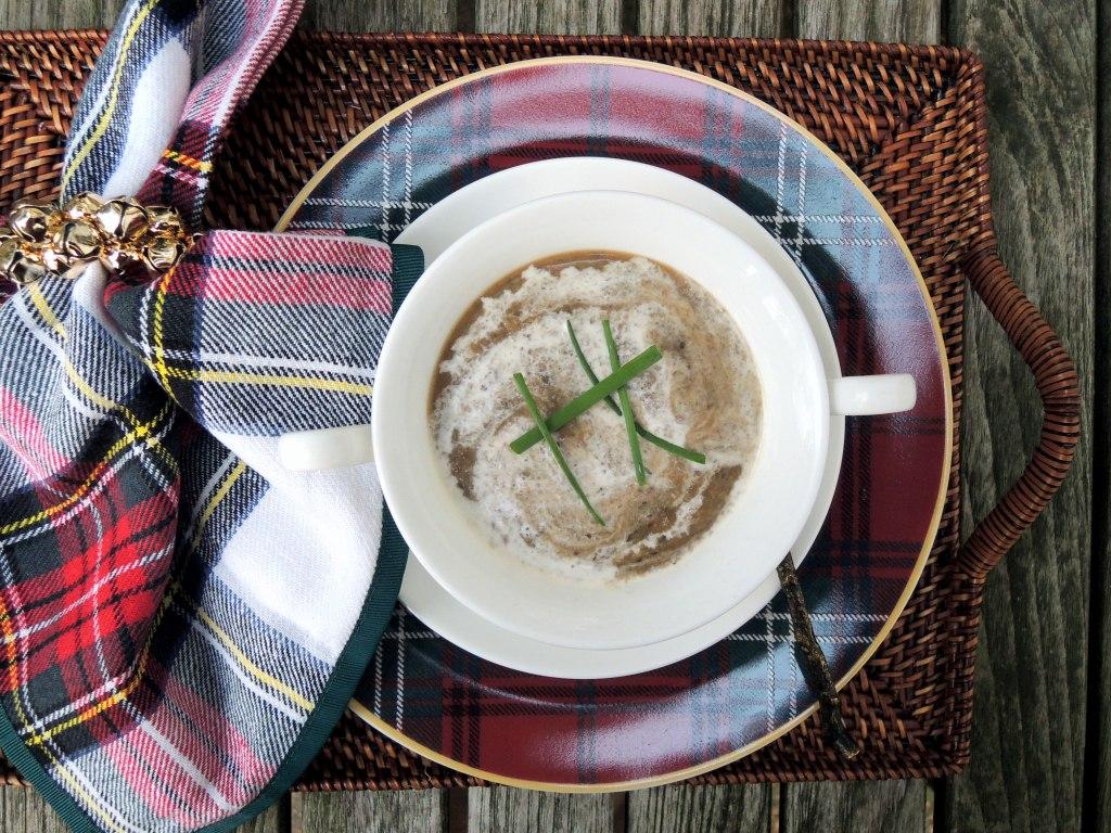 Christmas, wild mushroom soup 2