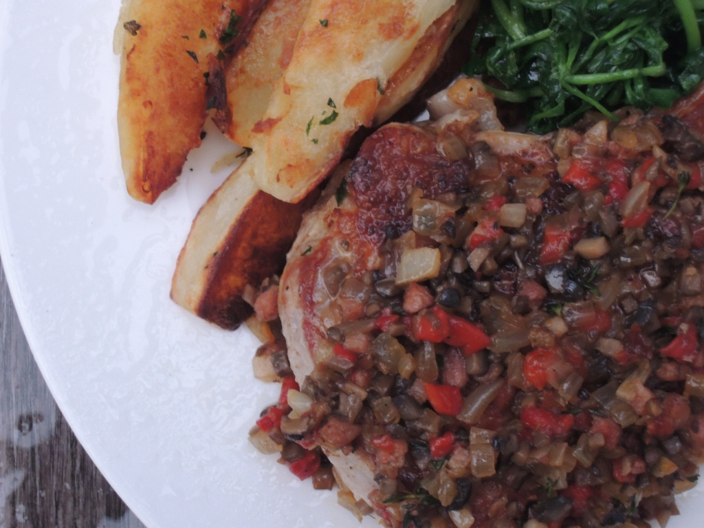 veal, sauteed veal chops, chuleta de ternera hortelana 2