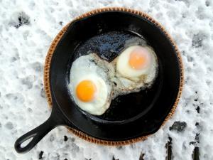Eggs, fried eggs 1