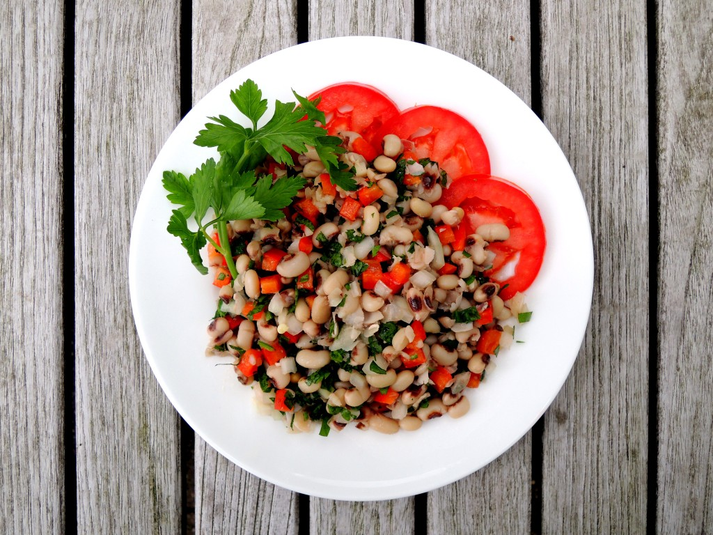 Salads, bean, pickled black eyed peas (Texas caviar) 1