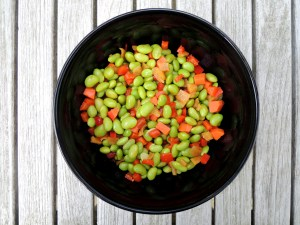 Salads, bean, Sichuanese green soy bean salad 1