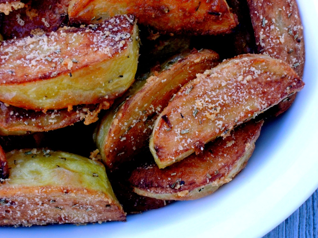 Vegetables, potatoes, roasted potato spears with Parmesan 2