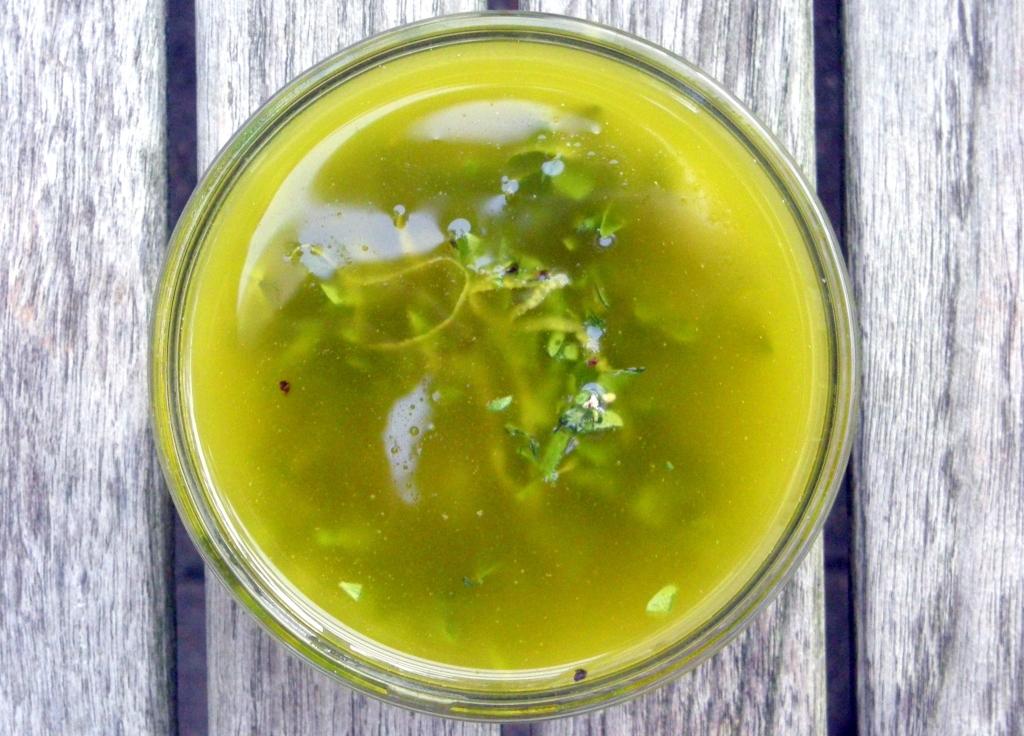 Condiments, herb sauces, salmoriglio 1