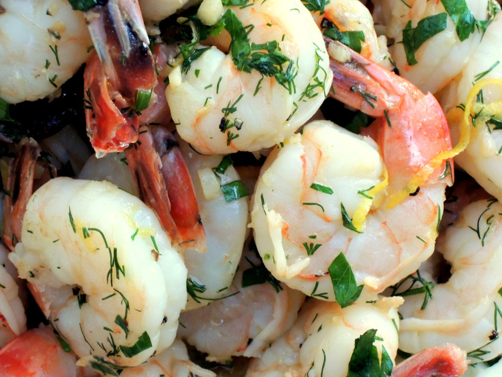 Shrimp, sauteed, crevettes sautees au citron 2
