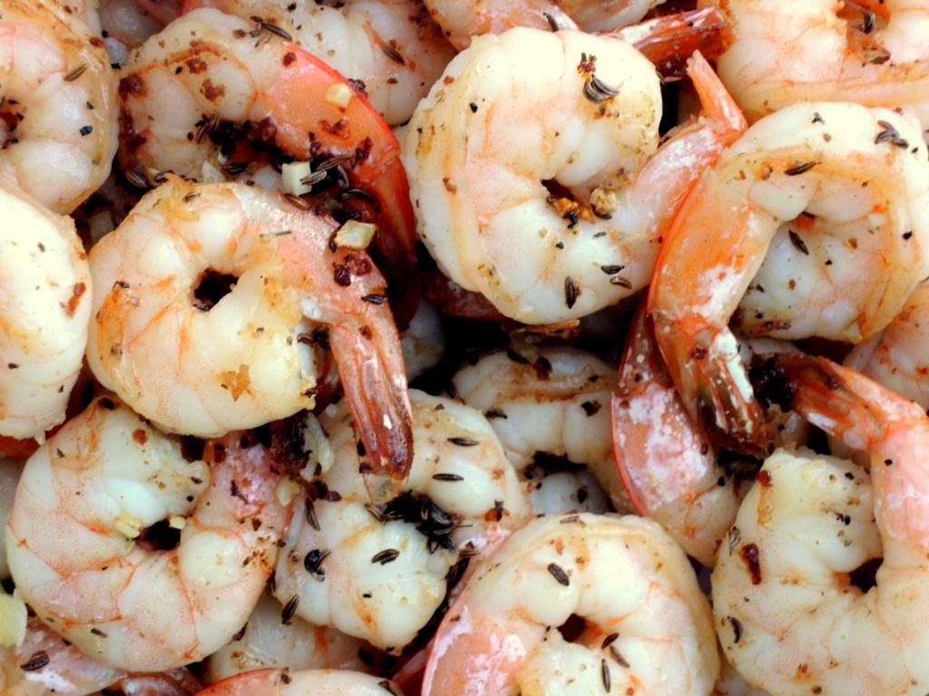 Shrimp, sauteed shrimp with caraway seeds 3
