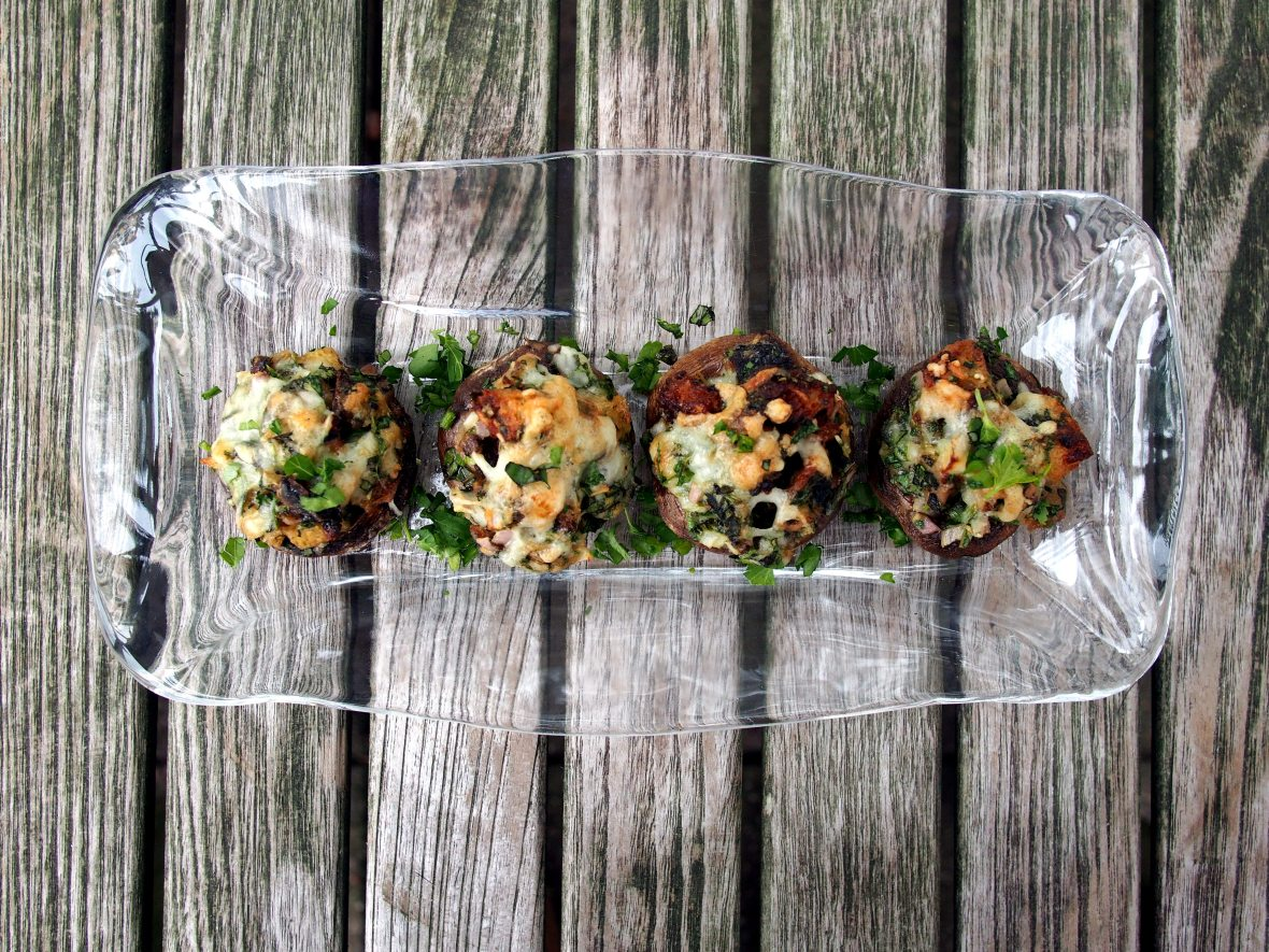 Appetizers, mushrooms, stuffing stuffed mushroom caps 5.JPG